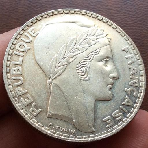 20 FRANCOS DE PLATA DE 1938 - REPUBLICA FRANCESA - SIN CIRCULAR