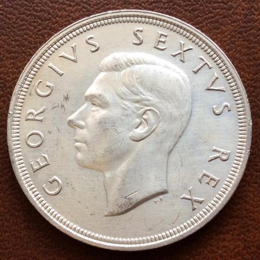 5 SHILLINGS DE PLATA DE 1948 - SUDÁFRICA - JORGE VI - GEORGIUS SEXTUS REX [0]