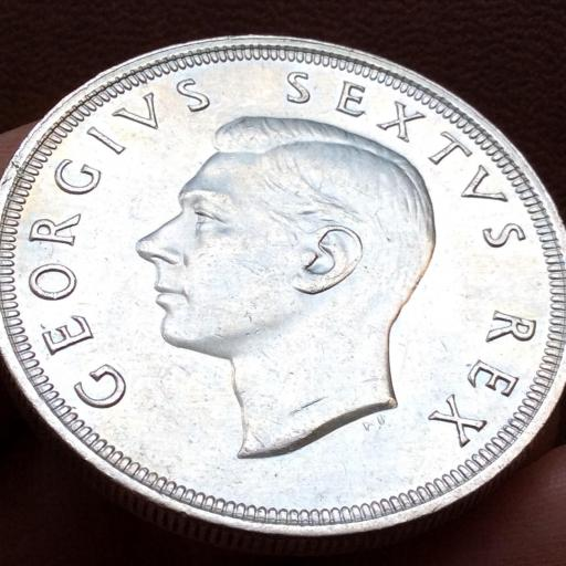 5 SHILLINGS DE PLATA DE 1948 - SUDÁFRICA - JORGE VI - GEORGIUS SEXTUS REX [2]
