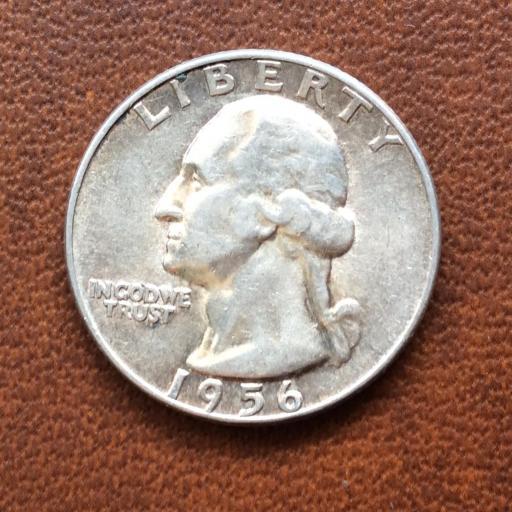 QUARTER DOLLAR DE PLATA DE 1957 - G,WASHINGTON - PHILADELFIA  [1]