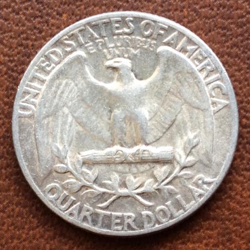 QUARTER DOLLAR DE PLATA DE 1957 - G,WASHINGTON - PHILADELFIA  [2]