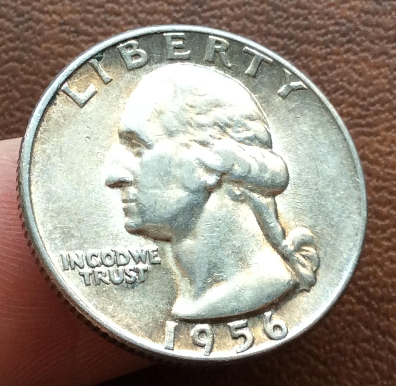 QUARTER DOLLAR DE PLATA DE 1957 - G,WASHINGTON - PHILADELFIA