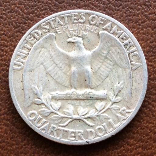 QUARTER DOLLAR DE PLATA DE 1964 - G.WASHINGTON - PHILADELFIA  [2]