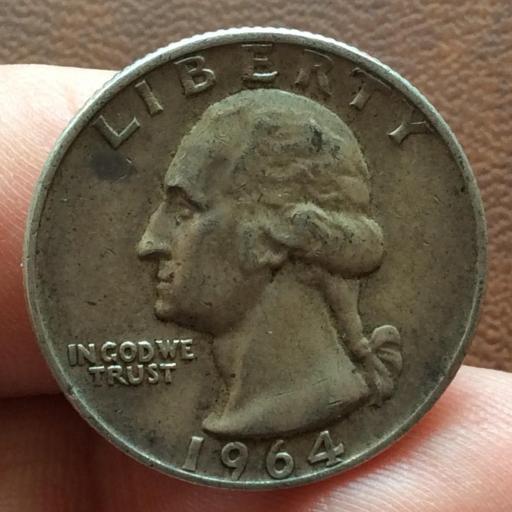 QUARTER DOLLAR DE PLATA DE 1964 - G.WASHINGTON - PHILADELFIA  [0]