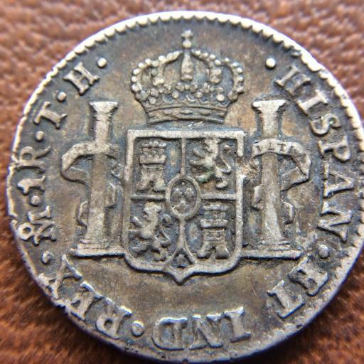 1 REAL DE PLATA DE 1807 DE CARLOS IV - ACUÑADO EN MÉXICO