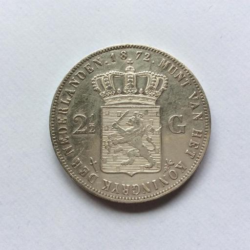 2'5 GULDEN PLATA 1872 - GUILLERMO III DE HOLANDA - PRECIOSA  [1]