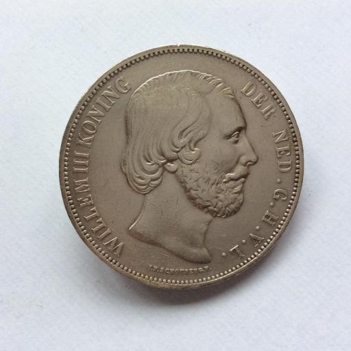 2'5 GULDEN PLATA 1872 - GUILLERMO III DE HOLANDA - PRECIOSA