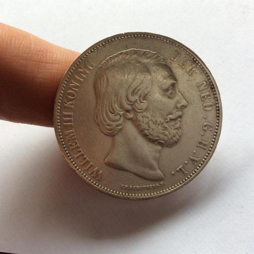 2'5 GULDEN PLATA 1872 - GUILLERMO III DE HOLANDA - PRECIOSA  [2]