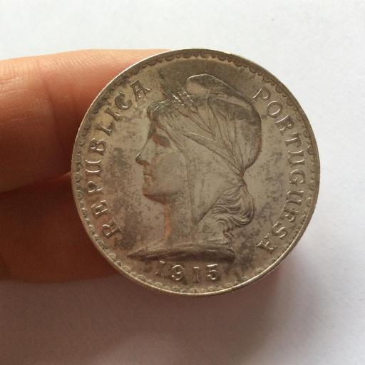 1 ESCUDO PLATA 1915 - REPUBLICA. PORTUGUESA - PRECIOSA  [2]