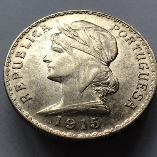 1 ESCUDO PLATA 1915 - REPUBLICA. PORTUGUESA - PRECIOSA