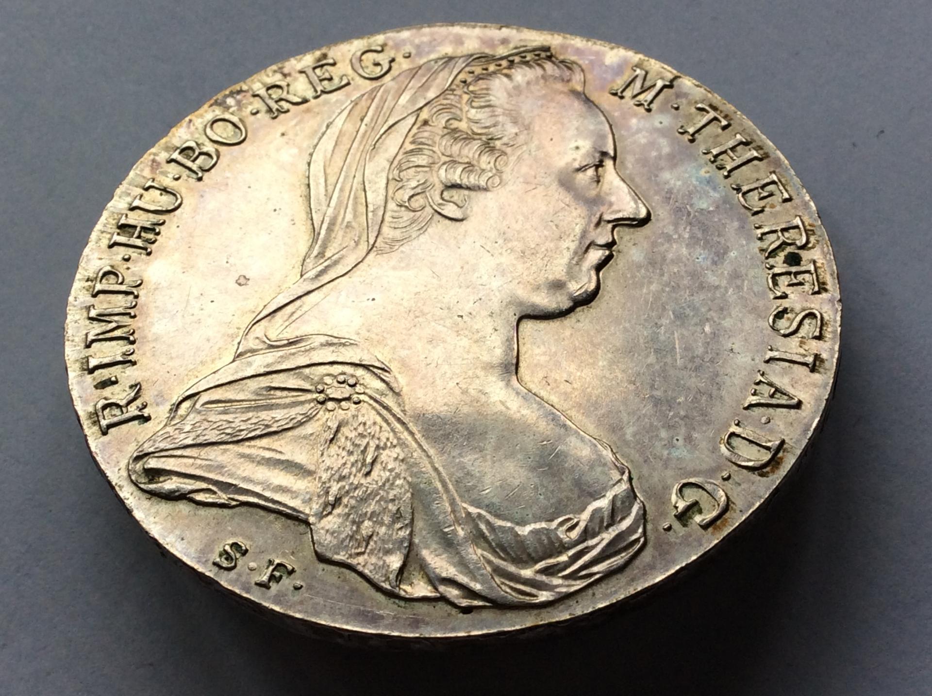 1 TALER DE PLATA DE 1780 - MARIA TERESA DE AUSTRIA - SIN CIRCULAR