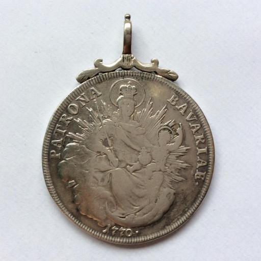 ESCASO 1 THALER 1770 - MAXIMILIANO III - PATRONA BAVARIA [1]