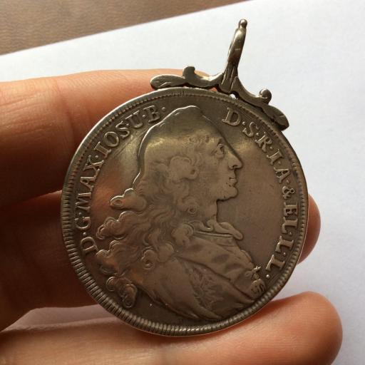 ESCASO 1 THALER 1770 - MAXIMILIANO III - PATRONA BAVARIA [2]
