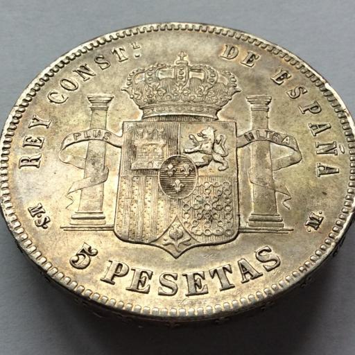5 PESETAS 1885 *18*87 - MSM - ALFONSO XII  [1]