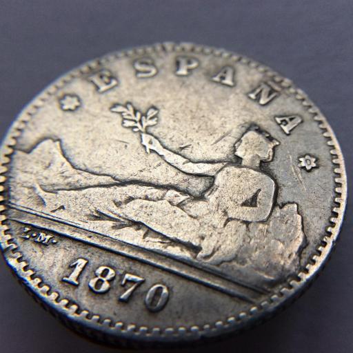 50 CÉNTIMOS DE PLATA DE 1770 - GOBIERNO PROVISIONAL DE LA REPUBLICA