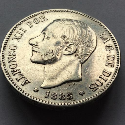 5 PESETAS PLATA 1885 *18*86 - ALFONSO XII - MSM