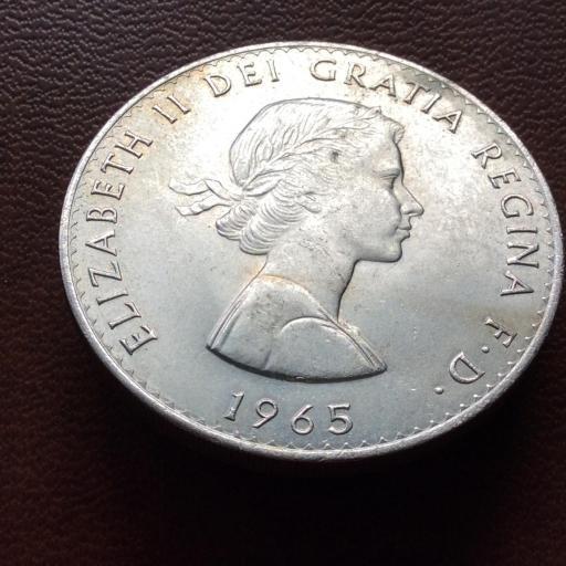 MONEDA CONMEMORATIVA ISABEL II DE INGLATERRA - 1965 - CHURCHILL
