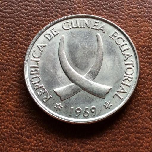 25 PESETAS GUINEANAS - 1969 - REPUBLICA DE GUINEA ECUATORIAL  [1]