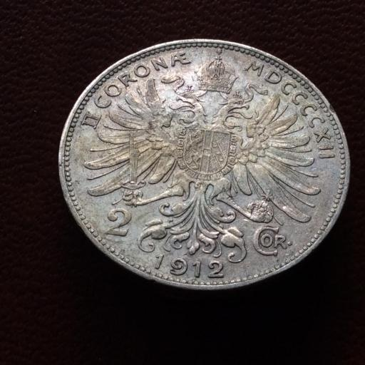 2 CORONAS DE PLATA DE 1912 - JOSEPH I - IMPERIO AUTRO-HÚNGARO