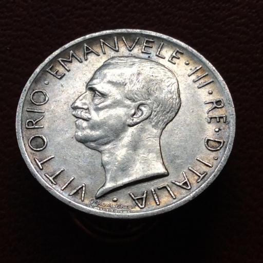 5 LIRAS PLATA 1927 - VITORIO EMANUELE III - REY DE ITALIA