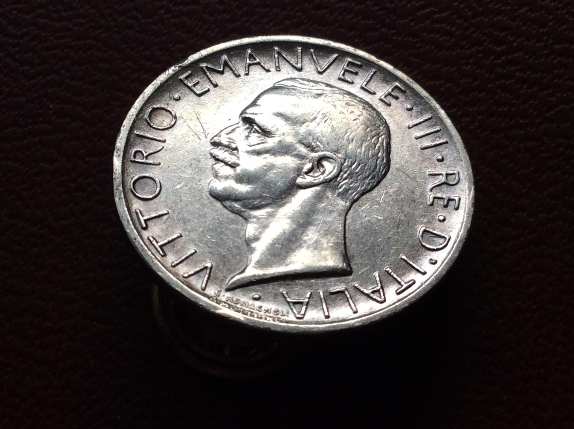 5 LIRAS DE PLATA DE 1927 - VITORIO EMANUELE III - ITALIA
