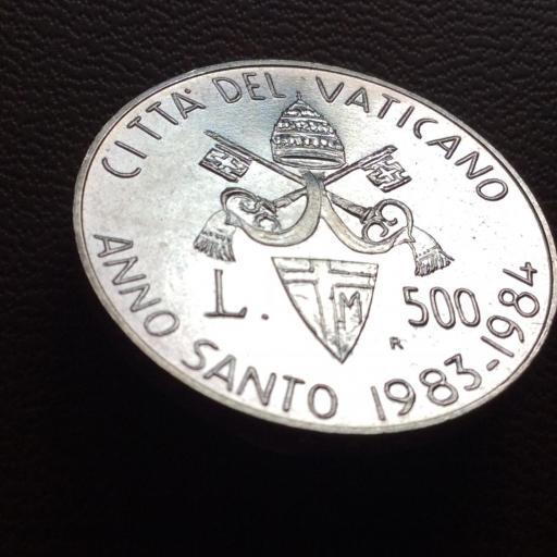 500 LIRAS DE PLATA DE 1983-1984 - AÑO SANTO - CIUDAD DEL VATICANO - SIN CIRCULAR