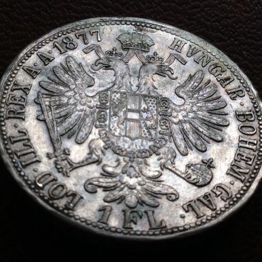 1 FLORÍN DE PLATA DE 1877 - FRANZ JOSEPH I - AUSTRIA - SIN CIRCULAR [1]