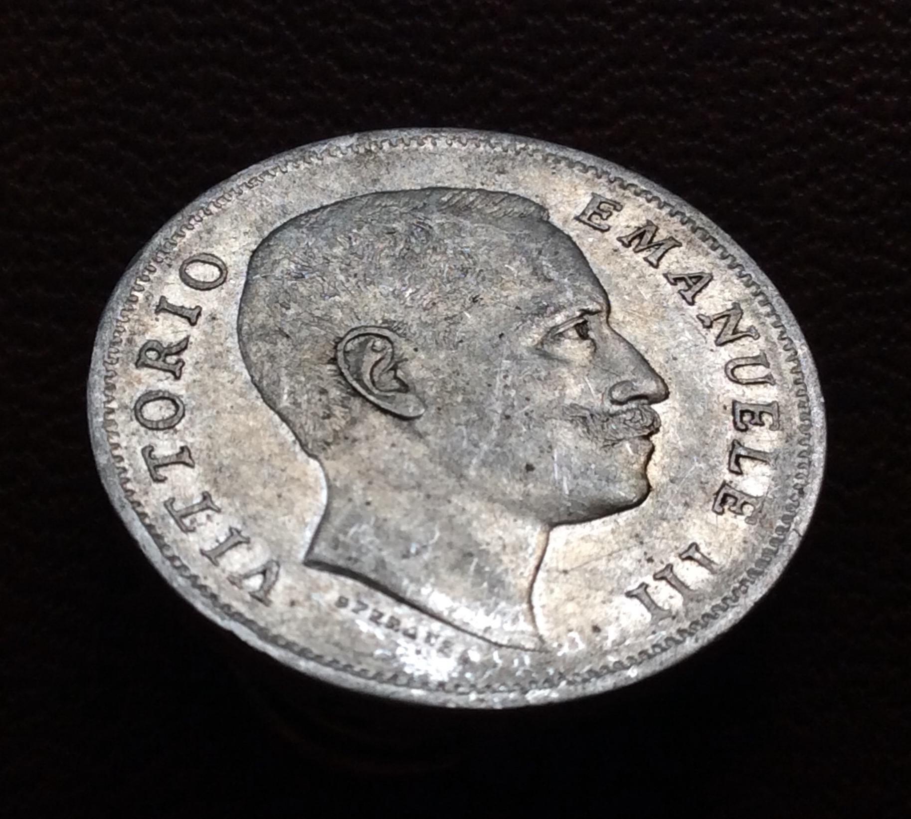 1 LIRA DE PLATA DE 1906 - VITORIO EMANUELE III - REINO DE ITALIA