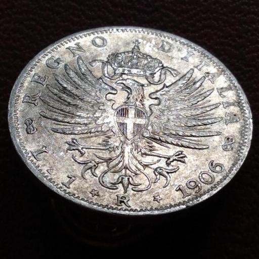 1 LIRA DE PLATA DE 1906 - VITORIO EMANUELE III - REINO DE ITALIA  [1]