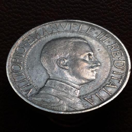 1 LIRA DE PLATA DE 1909 - VITORIO EMANUELE III - REY DE ITALIA  [1]