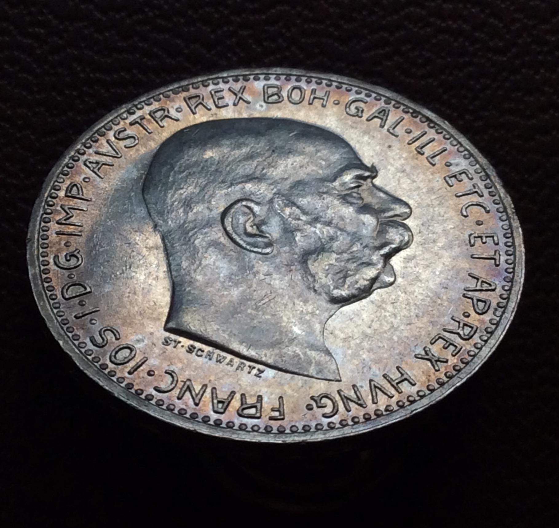 1 CORONA DE PLATA DE 1914 - FRANZ JOSEPH I - IMPERIO AUSTRO-HÚNGARO