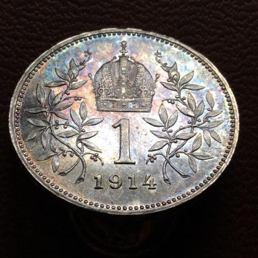 1 CORONA DE PLATA DE 1914 - FRANZ JOSEPH I - IMPERIO AUSTRO-HÚNGARO  [1]