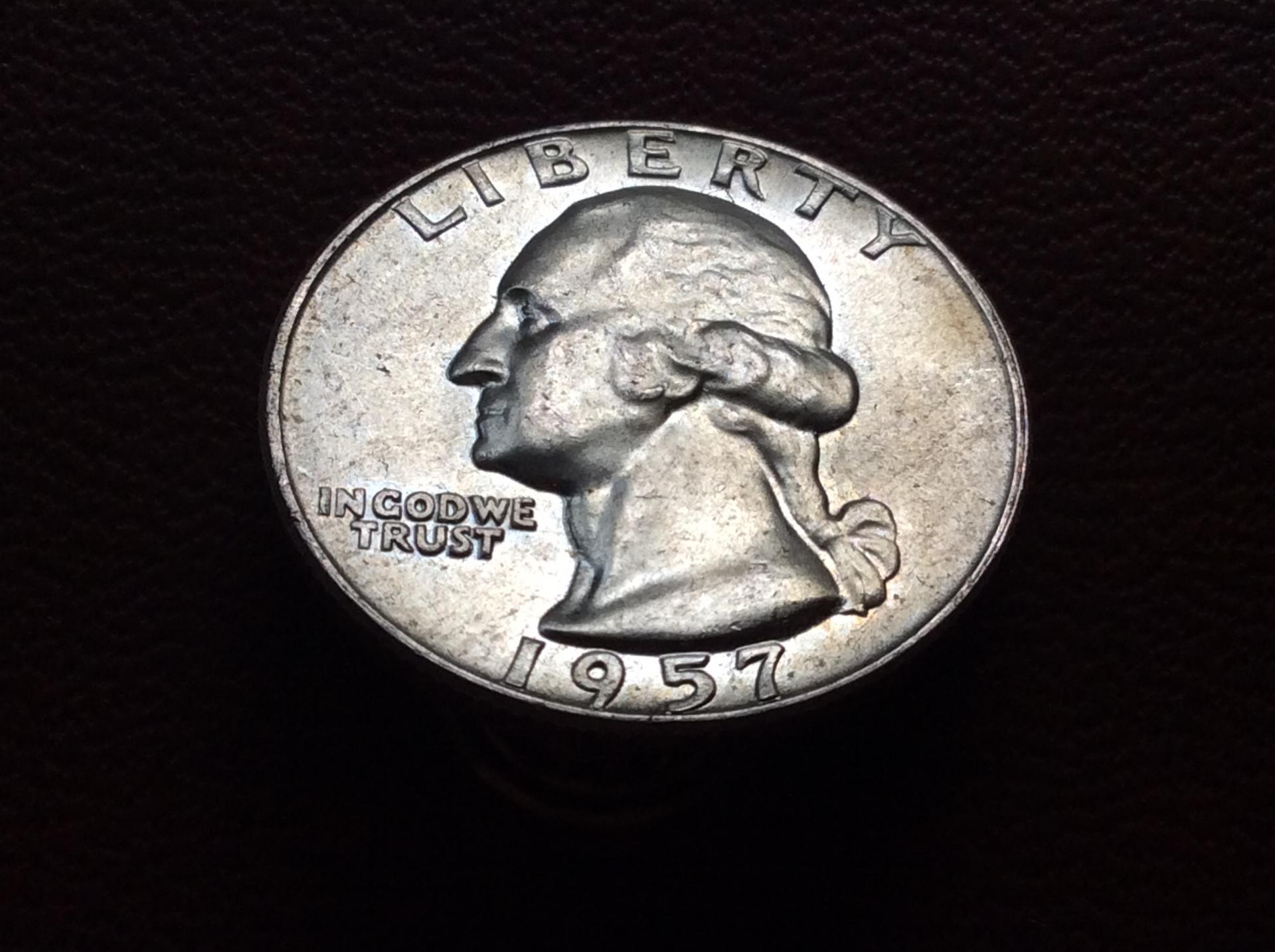 QUARTER DOLLAR DE PLATA 1957 - G. WASHINGTON - ESTADOS UNIDOS