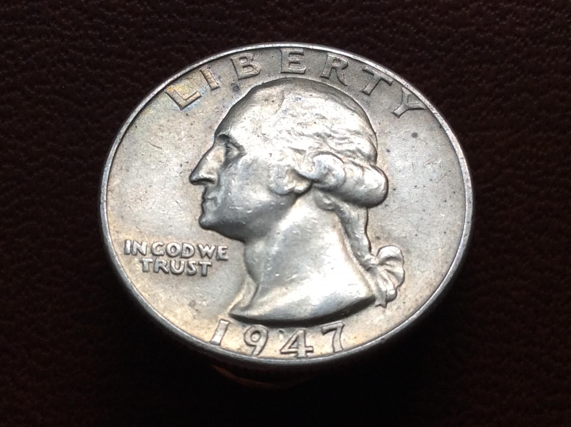 QUARTER DOLLAR DE PLATA DE 1947 - G.WASHINGTON - ESTADOS UNIDOS