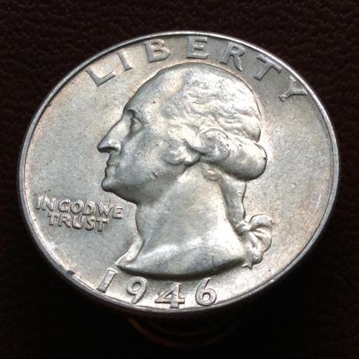 QUARTER DOLLAR DE PLATA DE 1946 - G.WASHINGTON- ESTADOS UNIDOS