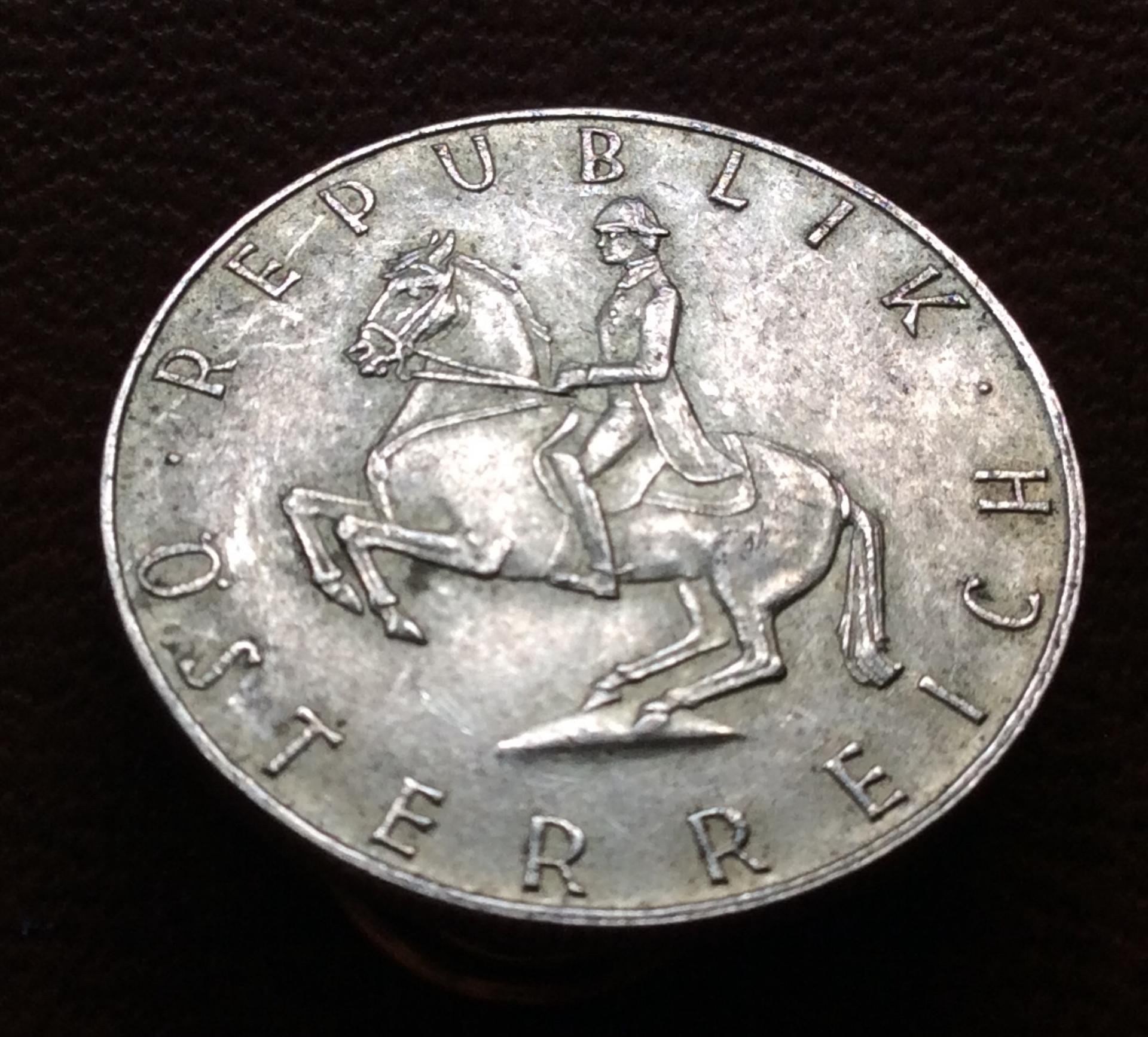 5 SCHILLING DE PLATA DE 1962 - REPUBLICA AUSTRIACA - SIN CIRCULAR