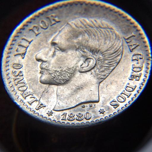 50 CÉNTIMOS PLATA 1880 - ALFONSO XIII - PRÁCTICAMENTE SIN CIRCULAR  [1]