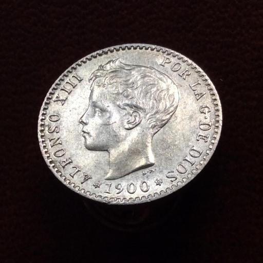 50 CÉNTIMOS PLATA 1900 - ALFONSO XIII