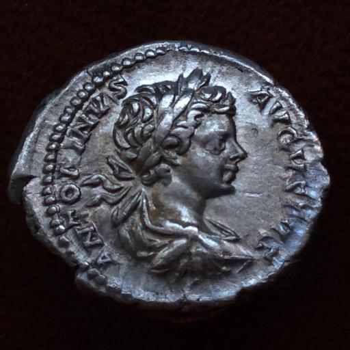 DENARIO DE PLATA DEL EMPERADOR CARACALLA DE JOVEN - HACIA EL 200 d.C. - ROMA