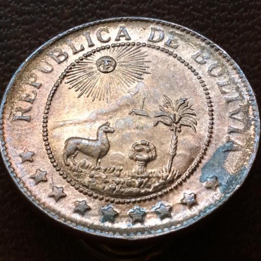50 CÉNTIMOS DE 1942 - REPUBLICA DE BOLIVIA  [1]