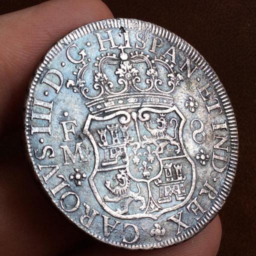 8 REALES PLATA 1770 - COLUMNARIO - REINADO DE CARLOS III - MÉXICO  [1]