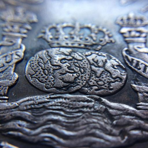 8 REALES PLATA 1770 - COLUMNARIO - REINADO DE CARLOS III - MÉXICO  [3]