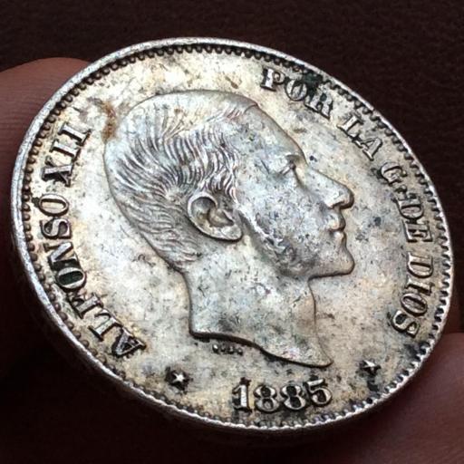 50 CENTAVOS DE PESO 1885 - ALFONSO XII - ISLAS FILIPINAS [1]