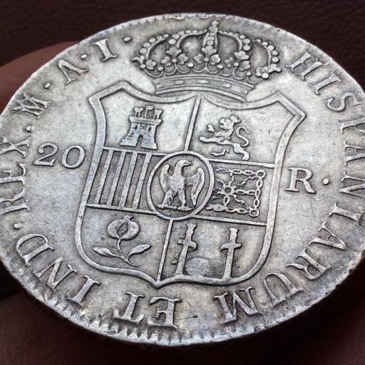20 REALES PLATA 1810 - JOSÉ I BONAPARTE - OCUPACIÓN NAPOLEONICA - MADRID AI  [2]