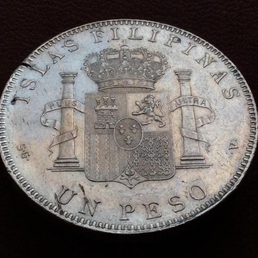 1 PESO DE PLATA DE 1897 - REINADO DE ALFONSO XIII EN FILIPINAS