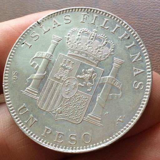 1 PESO DE PLATA DE 1897 - REINADO DE ALFONSO XIII EN FILIPINAS  [3]