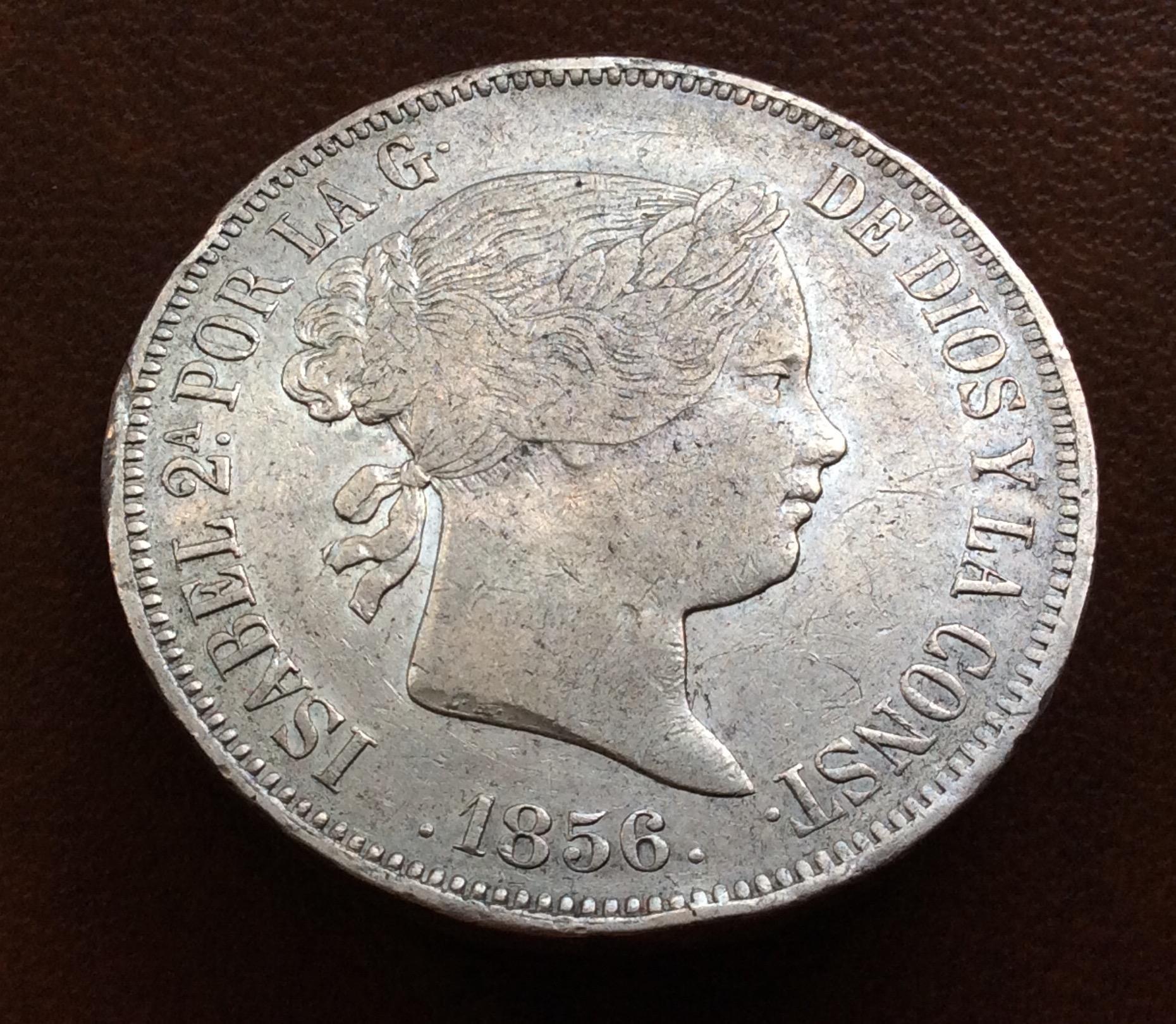20 REALES PLATA 1856 - ISABEL II - MADRID
