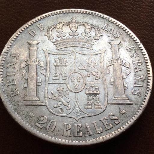 20 REALES PLATA 1856 - ISABEL II - MADRID [1]