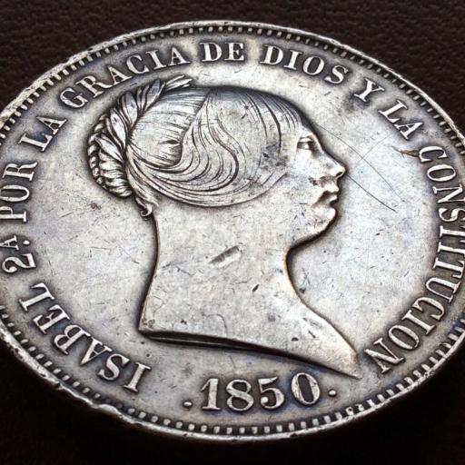 20 REALES PLATA 1850 - ISABEL II - MADRID