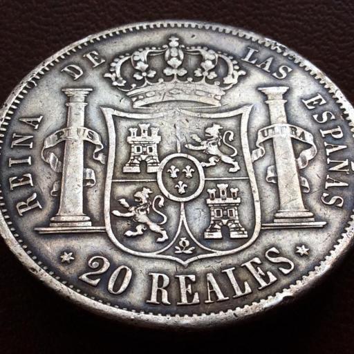 20 REALES PLATA 1850 - ISABEL II - MADRID [1]